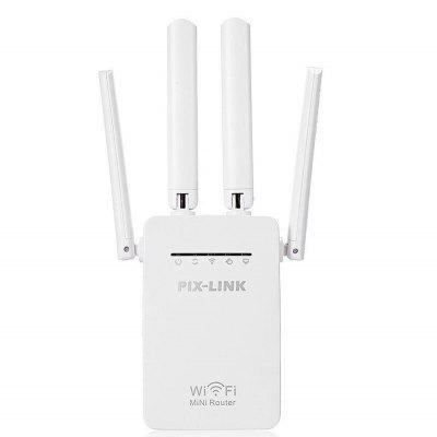 PIXLINK 300Mbps WR09 Wireless 2 Ports WIFI Router Repeater Booster Extender 802.11b/g/n RJ45