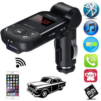 Auto Stereo Bluetooth Adapter Hands Free Car Kit FM Transmitter Support U Disk TF Card MP3 Music Player