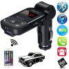 Auto Stereo Bluetooth Adapter Hands Free Car Kit FM Transmitter Support U Disk TF Card MP3 Music Player - BLACK