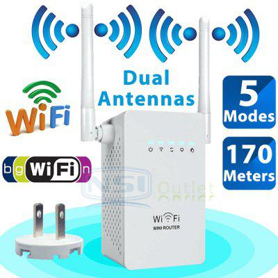 300Mbps Wireless Range Extender Signal Booster Network Router WiFi Repeater Router 2 Antenna