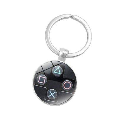 Gamepad Style Time Gem Cabochon Key Chain Collection Gift