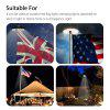 Solar Powered 128 LED Flag Pole Light Night Super Bright Flagpole Waterproof A+++ - WHITE