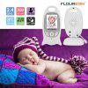 FLOUREON Digital Wireless 2.4 GHz Baby Monitor Infant IR LCD Video Nanny Security Camera Temperature Display 2 Way Talk Night Vision Lullabies Radio EU - MILK WHITE
