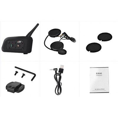 Capacete de Motocicleta Full-duplex Bluetooth Intercom Headset VNETPHONE V6