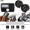 Motorcycle Sound System Audio FM Radio Stereo Speakers System Handlebar MP3 - BLACK
