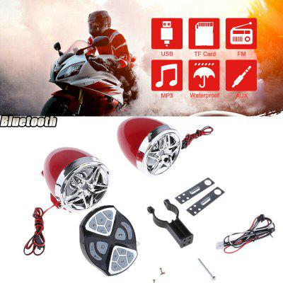 Motorcycle Motorbike Audio Sound System MP3 FM Radio Stereo Speakers