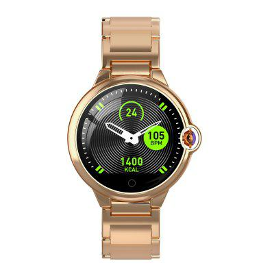 """Smart Watch Bluetooth 4.0 Waterproof 1.22"""" Full Large Color Screen Heart Rate Sleep Monitoring Classic Business Style"""