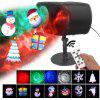 Double-head Projector Light LED Projector Lamp for Home Party Christmas Halloween Decoration - BLACK