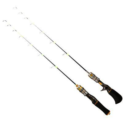 Ice Fishing Rod Ergonomic Design with Rubber Handle High-strength Guide Ring Straight / Gun Shape Handle
