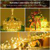 200 led solar LED Light Waterproof LED Copper Wire String Holiday Outdoor led strip Christmas Party Wedding Decoration - WARM WHITE