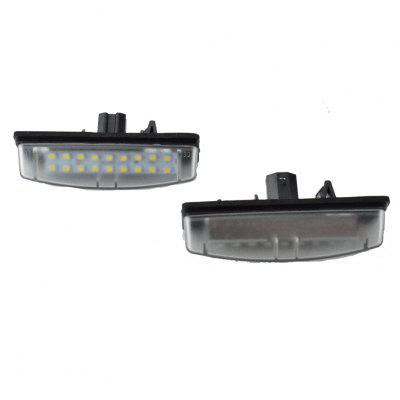 2pcs LED License Plate Lamps 12V for Toyota / LEXUS