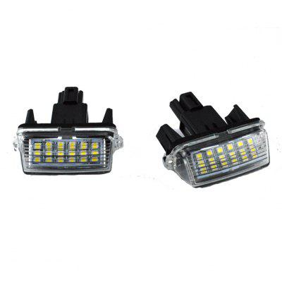 2pcs LED License Plate Lamps 12V for Toyota Camry/YARIS/ EZ/VIOS