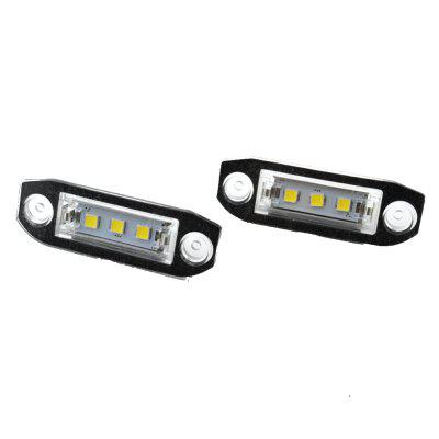 2pcs LED License Plate Lamps 12V for VOLVO S40S60S80 XC70 XC60