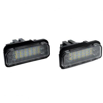 2pcs LED License Plate Lamps 12V for Benz W203/W211/W219/R171