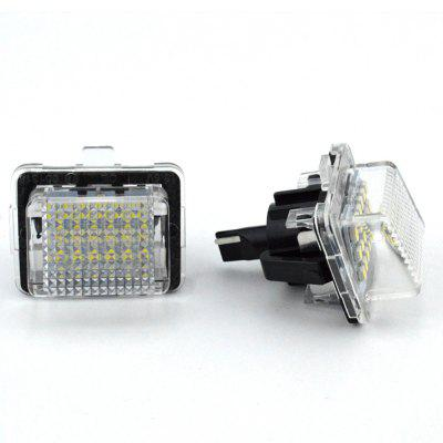 2pcs LED License Plate Lamps 12V for Benz W204/W212/W216/W221/W207