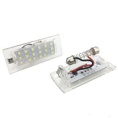 2pcs LED License Plate Lamps 12V for BMW E53 X5 E83 X3