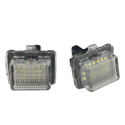 2pcs LED License Plate Lamps 12V for Benz W204, W204 5D, W212, W216, W221