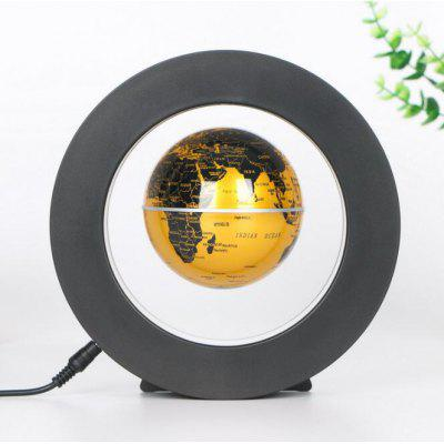 3  inch O Shape Levitation Floating Globe Rotating  Electronic Magnetic World Map Colorful LED Lamp Gift Decoration