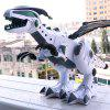 Smoke Spray Electronic Dinosaur Colorful Light Effect Simulation Spitfire Dinosaur Electric Model Toy - WHITE