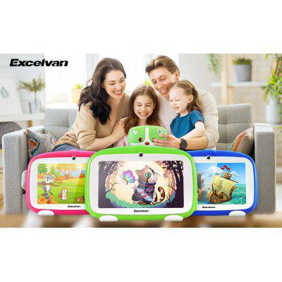 Excelvan  Q738 7 Inch A50 Android 9.0 with 1GB RAM 16GB ROM Dual Camera WiFi USB Kids Software Edition Tablet PC Green GMS EU