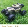 1:8 Alloy RC Toy Car 4WD Mountain Off-road Vehicle Suspension System Exquisite Appearance LED Light - CHAMPAGNE GOLD