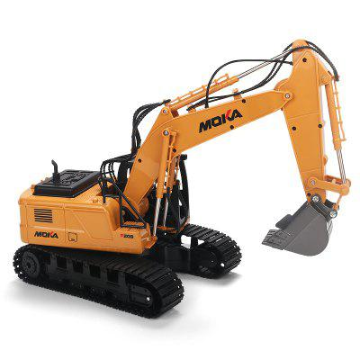 2.4G Remote Control Alloy Excavator Rotatable Flexible  Simulation Design Engineering Toy Car for Children