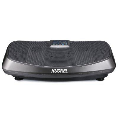 KUOKEL Vibration Plate Exercise Machine with Dual Motors, Remote Control and Resistance Bands, Whole Body Workout Fitness Platform for Home Fitness and Weight Loss