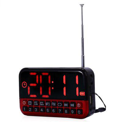 L - 80 Large LCD Screen MP3 Player Speaker FM Radio Receiver Desk Clock