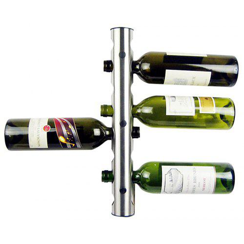 Stainless Steel 8 Hole Wall Mounted Wine Rack Holder