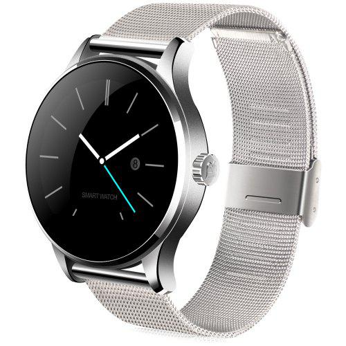 Bluetooth 4.0 Smart Watch Ultra Thin Mesh Belt Stainless Steel Wristwatch 1.22inch Ips Screen 300mah Battery Heart Rate Sensor Orders Are Welcome. Digital Watches