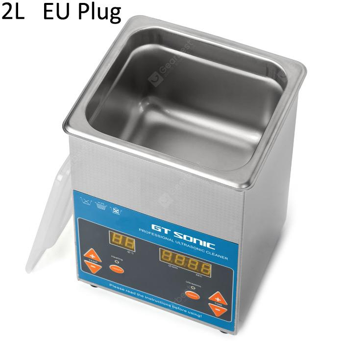 GT Sonic VGT-1620QTD Professional Ultrasonic Cleaner Washing Equipment - Silver EU Plug