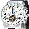 Forsining 2373 Male Tourbillon Automatic Mechanical Watch - SILVER AND WHITE