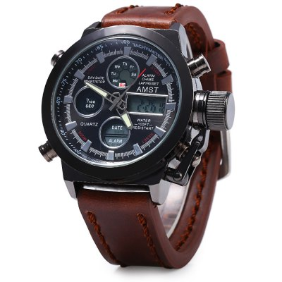 AMST FMD8156 Dual Movt Maschio LED Sport Watch