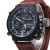 AMST FMD8156 Dual Movt Male LED Sports Watch - SILVER