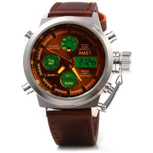 aa0aeb48d AMST AM3003 Dual Movt Men LED Sports Watch | Gearbest