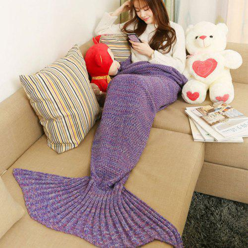 Mixture Crocheted Knitted Mermaid Tail Blanket Gearbest