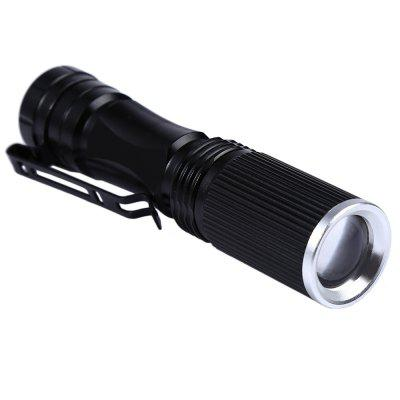 Cree XPE Q5 600Lm Zoomable LED Flashlight 1 x AA / 14500 x7 multi function cree xpe r3 led 350lm 5 mode flashlight