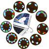 Colorful Adjustable USB Fan with 2 Blades / LED Light - WHITE