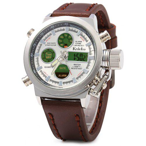 Kaletco 399A LED Dual Movt Multi-function Male Sport Watch - 0.00 ... 74a1f1c8601