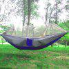 Single  Person Parachute Fabric Mosquito Net Hammock - BLUE+GRAY