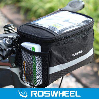 Roswheel Multi-use 3.5L Bicycle Handlebar Bag Map Pack Bike Front Tube 600D Pocket for Camping Hiking Cycling