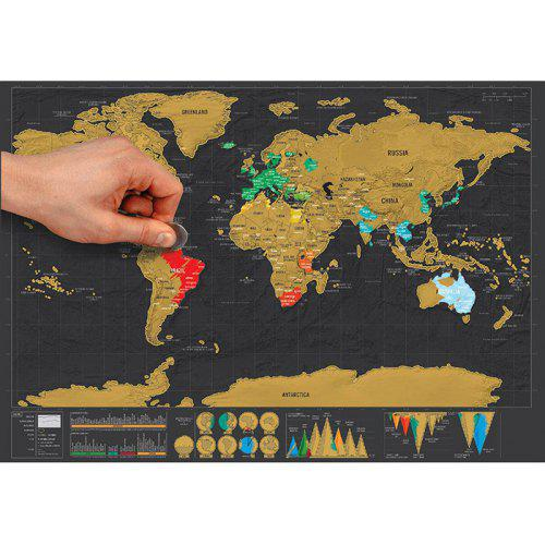 Large Scratch Off World Map.Large Size Personalized Scratch Off World Map Poster Travel Toy