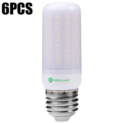 Refurbished 6pcs Sencart 102 x SMD2835 1200LM E27 12W Frosted LED Corn Light