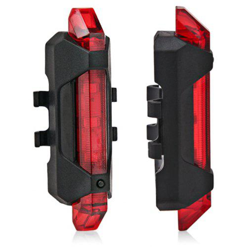 Solar Bike Bicycle LED Cycling Tail Rear Red Light Lamp Taillight w// Clamp GW