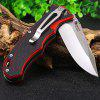 HARNDS CK7006A Clip Pocket Folding Knife - RED WITH BLACK