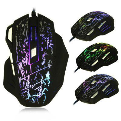 BEITRS X3 Wired Gaming Maus mit Lampe