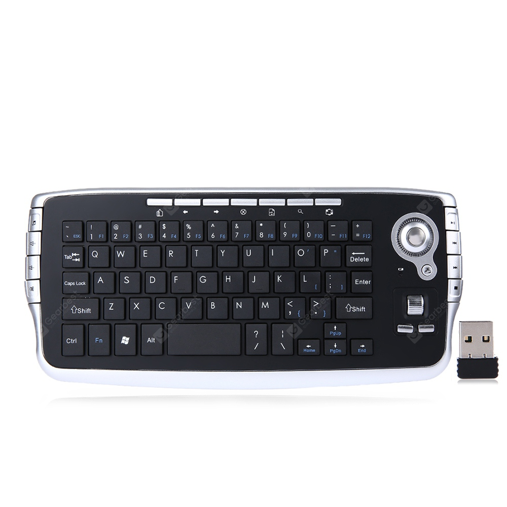FN - 717 2.4G Mini Wireless Keyboard Mouse - Black