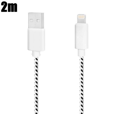 2m 8 Pin USB Data Sync and Charging Cable