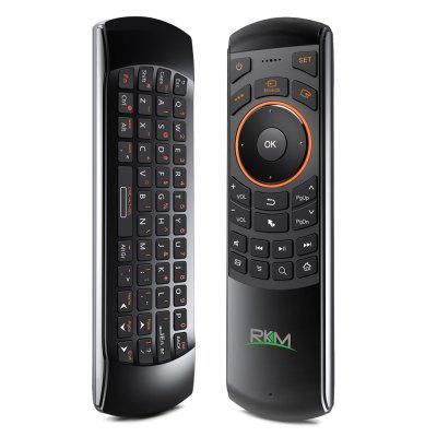 Refurbished Rikomagic RKM MK705 3 in 1 2.4GHz Portable Wireless Air Mouse QWERTY Keyboard IR Remote Combo for Emails Chat Games