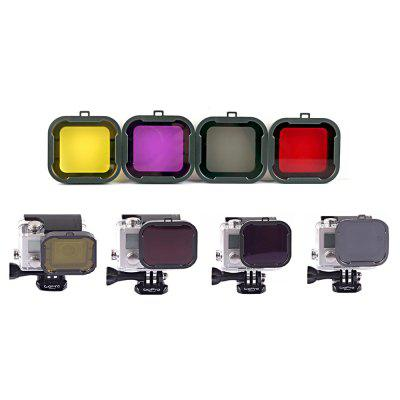 4 in 1 Diving Filter Lens Kit for GoPro Hero 3+